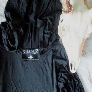 black sorcery bell-sleeve minidress ♡
